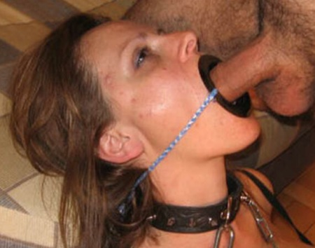 Submissive mouth fuck
